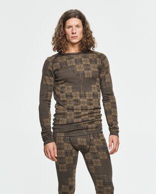 Check Merino Wool Crew, , hi-res